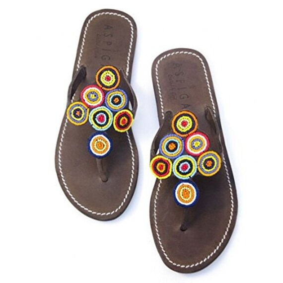 sports shoes 46f76 08b05 Reef sandy sandals for women   Handmade summer reef flip flops for women    MIDSUMMER sandals for women   Women's beach shoes   Bead sandals
