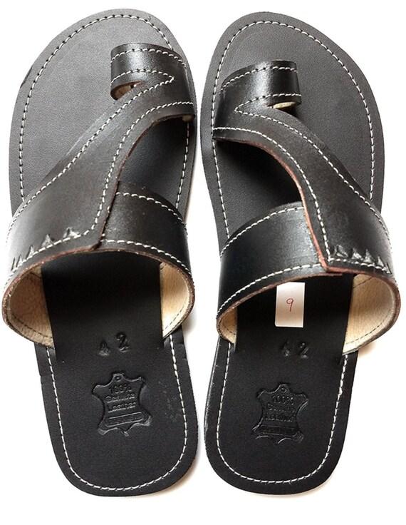 Men's Shoes African Shoes Black Sandals