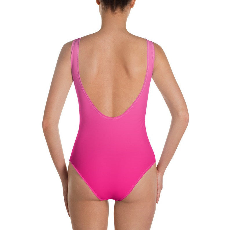 c01349390e1e3 Women's One-Piece Swimsuit Mommy Shark Pink Ombre | Etsy
