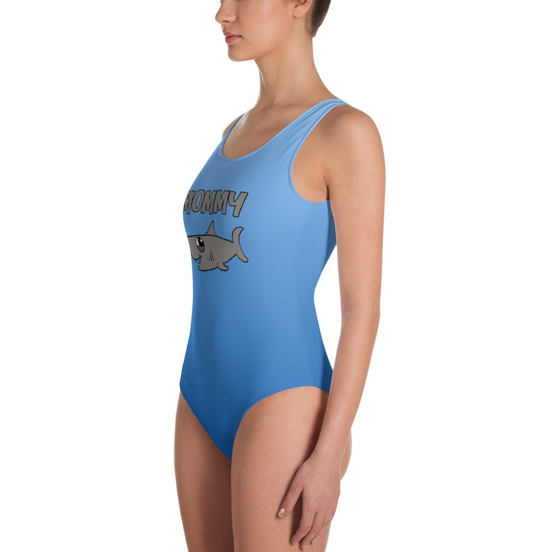 d4ae42d257aaa Mommy Shark One-Piece Women's Swimsuit Available in Plus | Etsy
