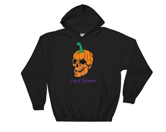 Hooded Sweatshirt King of Halloween Reduced pilling and softer air-jet spun yarn, waistband with spandex