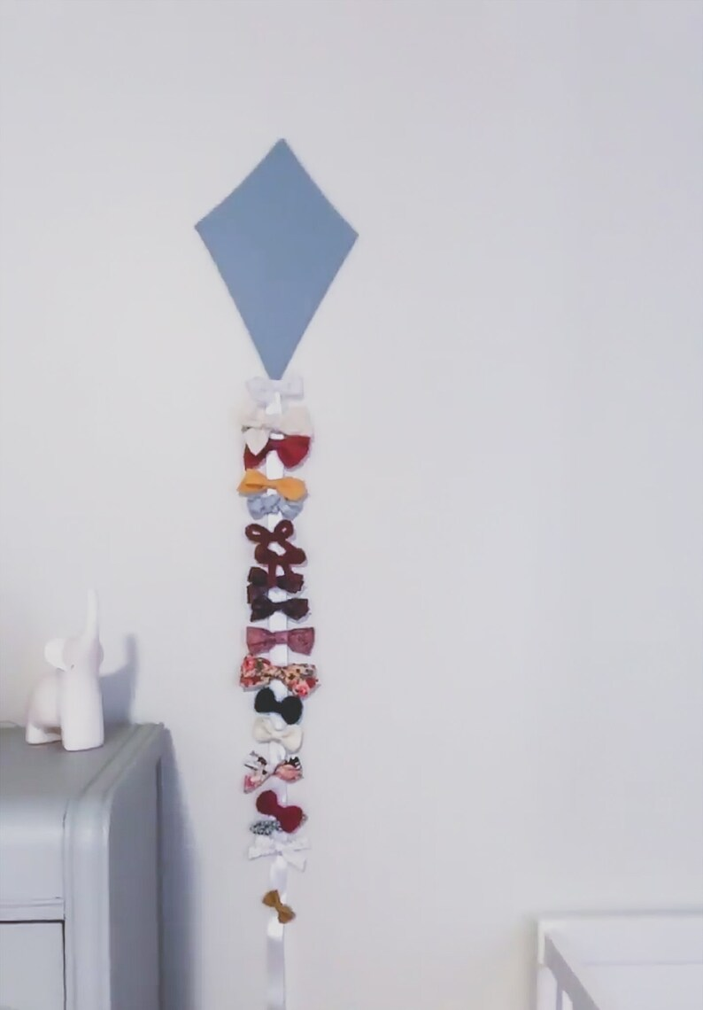 Robbins Egg Kite Bow Holder Hanger Organizer Custom Personalized Gifts Nursery Wall Hanging Decor Baby Girl Room