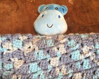 Hippo Lovey Blanket