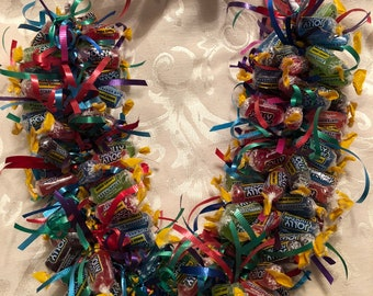Candy Lei, Hawaiian Lei, Jolly Rancher Lei, Edible Necklace, Graduation Lei, Birthday , Dance Recital, Candy Necklace, Jolly Rancher, Party
