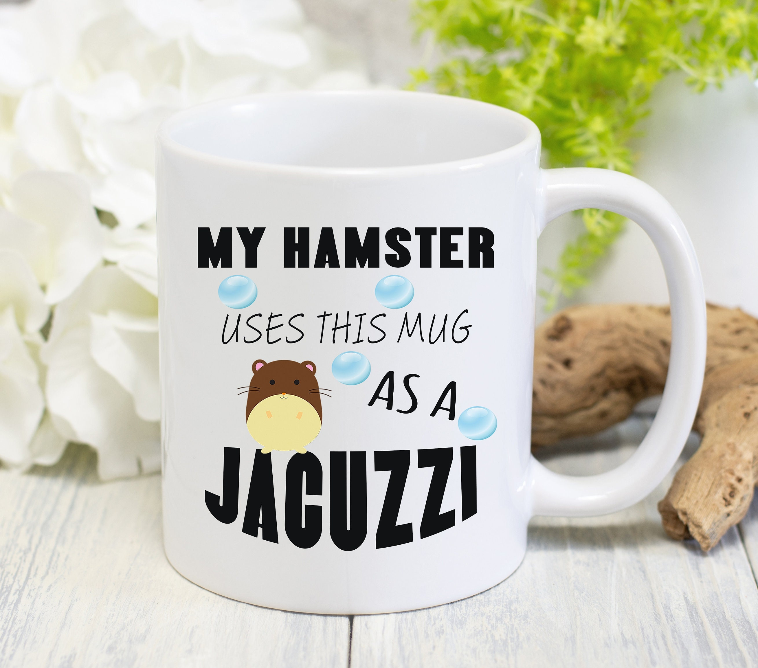 Him Hamster Coffee Mug Pet Lover Cute Dwarf Hamster Gift For Her Birthday
