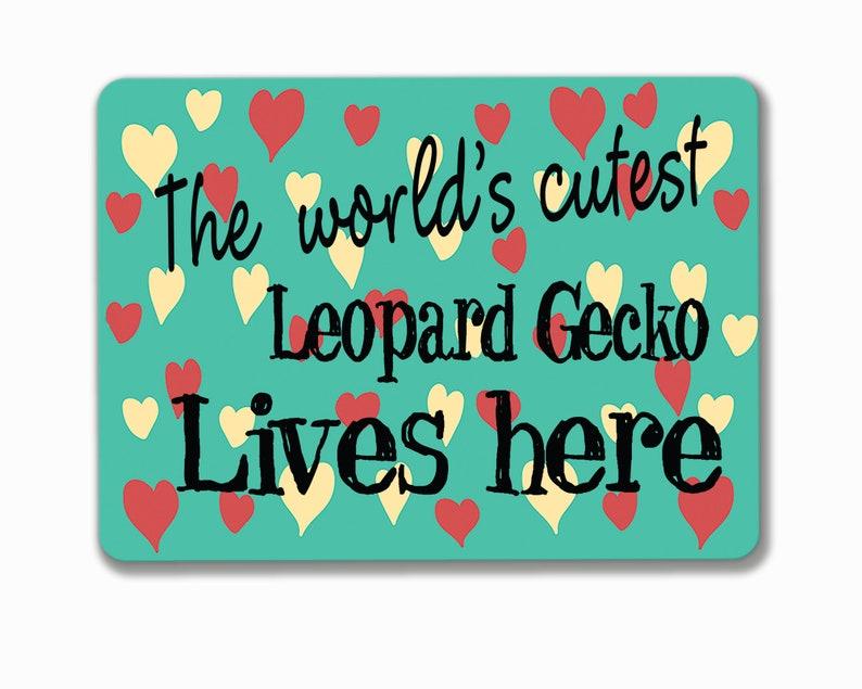 Leopard Gecko reptile metal sign