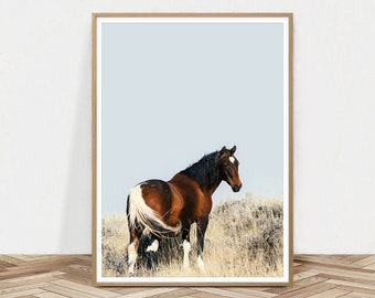 Horse Print, Wild Horse Poster, Equestrian Print, Horse Photography, Western Decor, Kids Room Decor, Southwest Poster,Printable Animal Photo