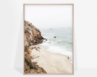 Malibu Coast Poster, California Print, Beach Wall Art, Nature Landscape, Travel Poster, Ocean Wall Decor, Printable Art
