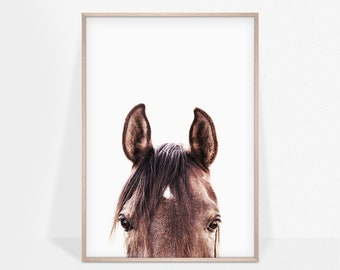 Horse Photography Print, Southwest Decor, Equestrian Print, Peekaboo Horse Poster, Printable Art, Nursery, Kids Room Decor, Digital Download