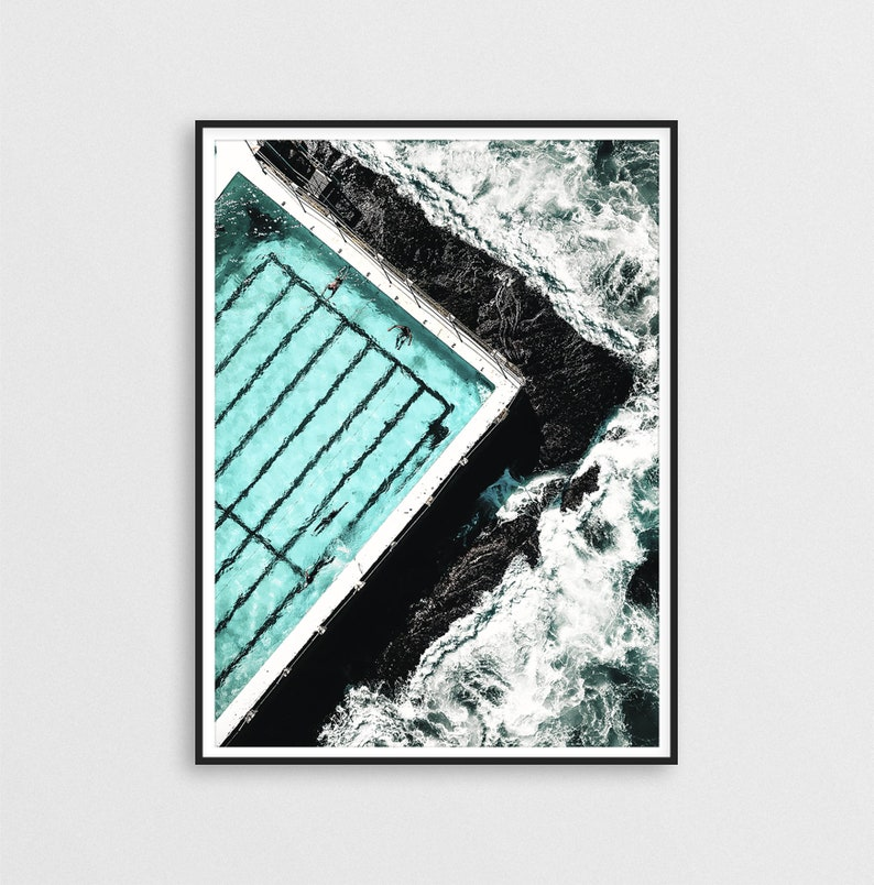 Bondi Beach Print, Bondi Poster, Sydney Print, Australia Print, Art for  Living Room, Coastal Decor, Sea Print, Waves Ocean Print