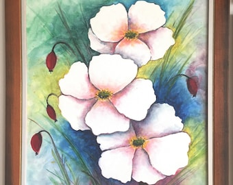 Briar aquarell paint on canvas