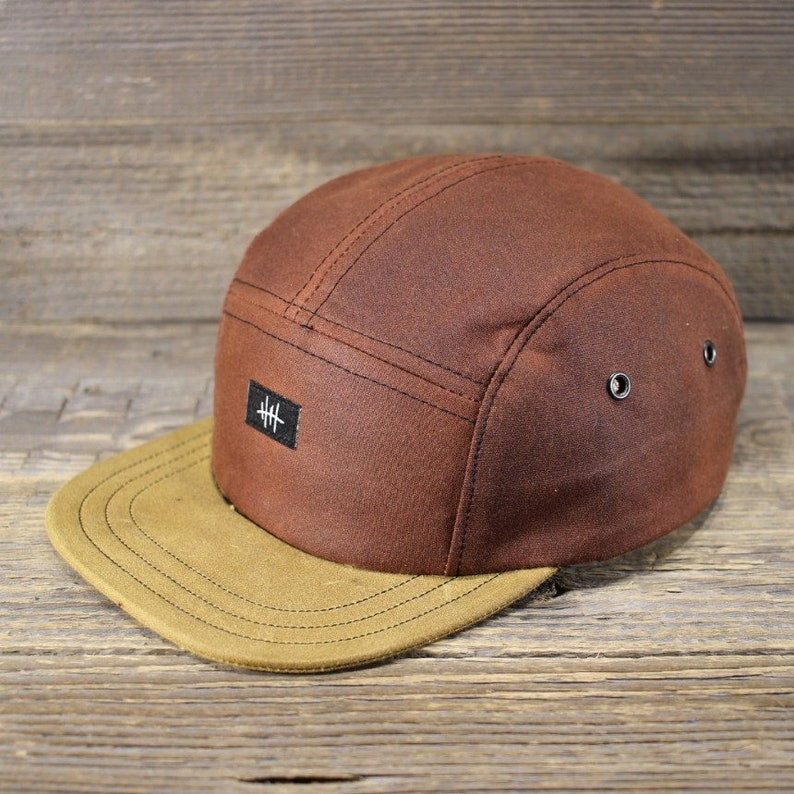 badc662e76f810 5-Panel Cap Chestnut Wax & Sand Handcrafted in Berlin. | Etsy