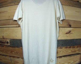 "55/45% Hemp/Organic Cotton ""Raw Cut"" T-shirt"