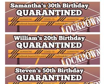 Personalised Outdoor Birthday Banner Lockdown Quarantine Virus Fun Party Decoration 1st 2nd 18th 21st 30th 40th 50th 60th 70th 80th Birthday Decorations