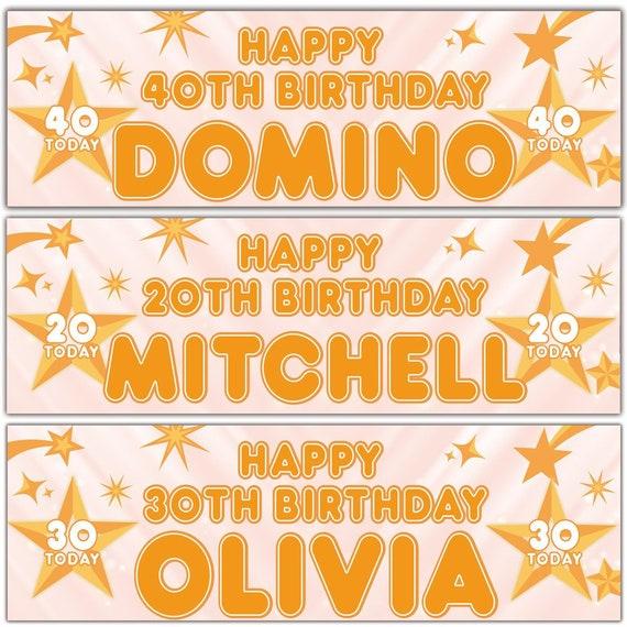 x2 Personalised Birthday Banner Unicorn Children Kids Party Decoration Poster 11