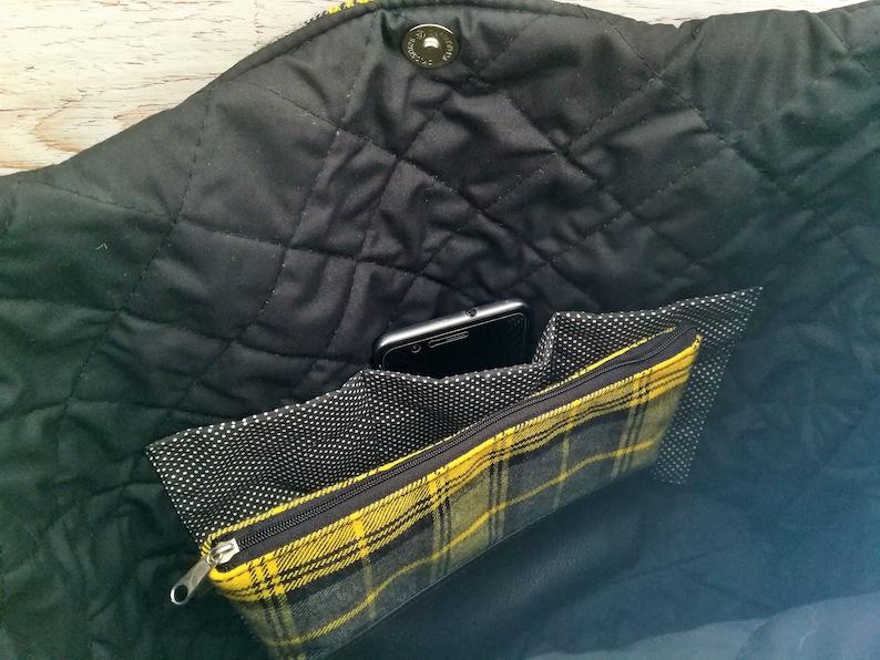 Tartan bag Tweed tote