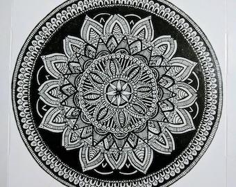 Lotus - Hand drawn mandala.