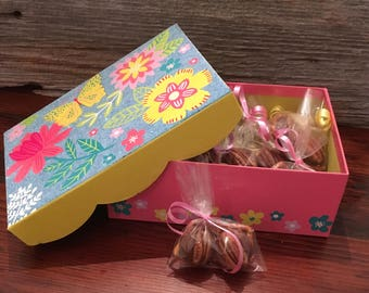Chocolate Gift Box - Chocolate Gifts - Chocolate Caramel Pecan Pretzel Gift Box - Teachers Gifts - Gifts For Her