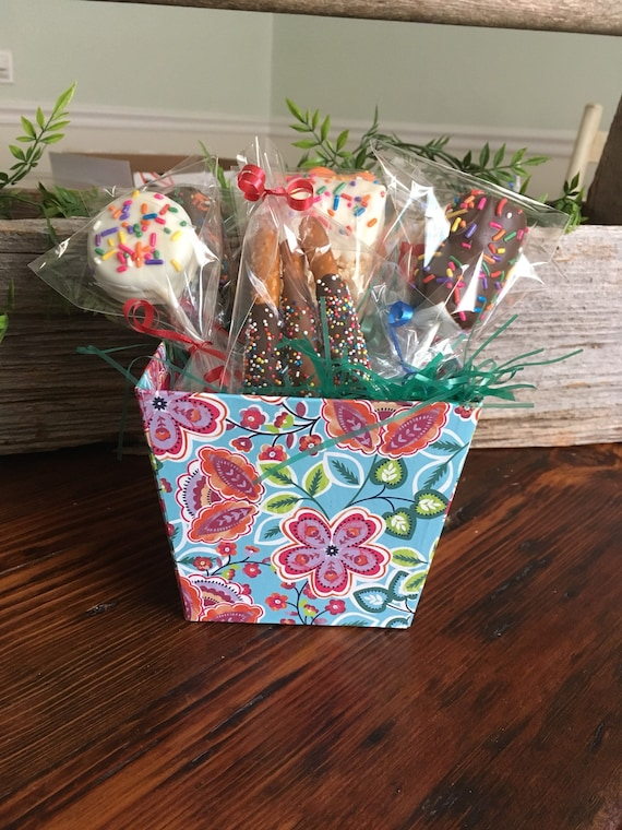 Chocolate Gift Basket Candy Floral