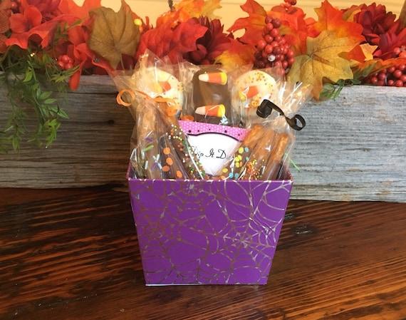 Spider Web Chocolate Halloween Gift Basket Halloween Candy Etsy