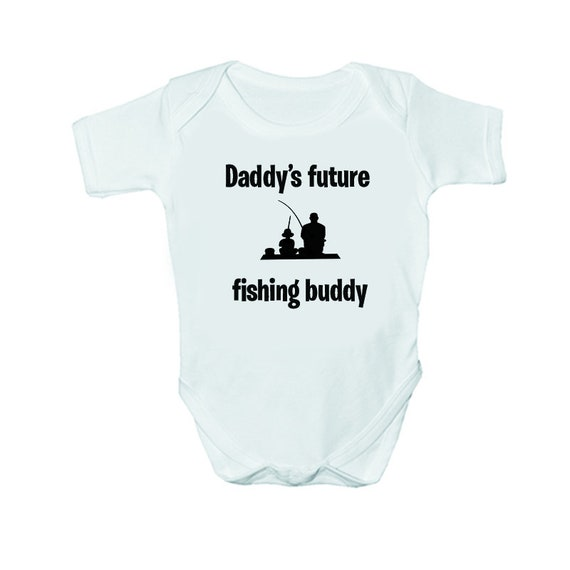 DADDY/'S FUTURE FISHING BUDDY BABY GROW VEST GIFT