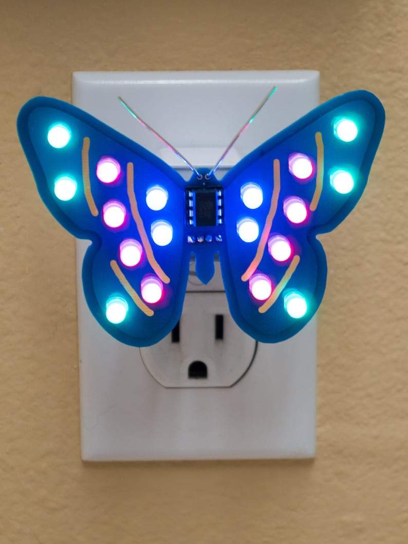 Color-changing butterfly nightlight image 0