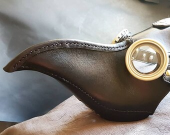 Plague Doctor Mask - Leather and Brass