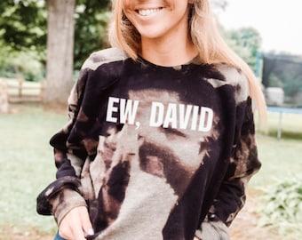 David RoseBleachedLong SleeveDistressedTvT-shirt