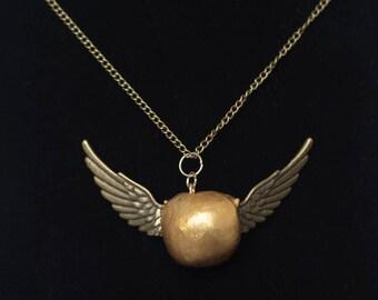 Golden Snitch Pendant Necklace