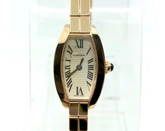 7a60a26384f3 Vintage Cartier 18k Rose Gold Watch W box