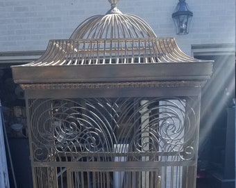 Read ENTIRE Posting - Magnificent Metal Antique Victorian Birdcage