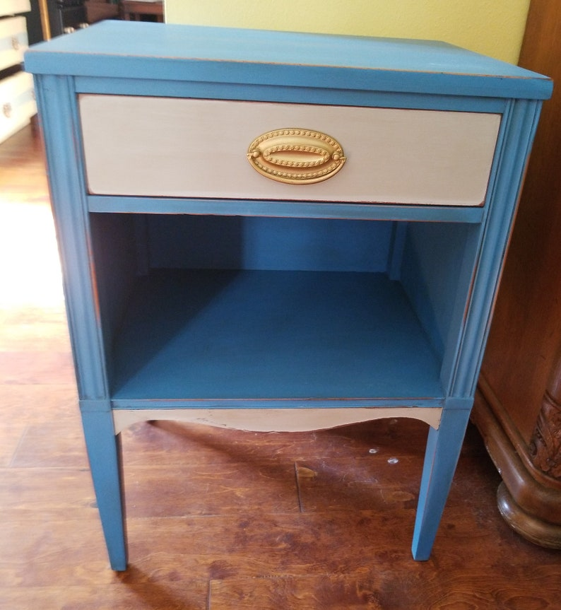 Outstanding Sold Blue Shabby Chic Accent Table Home Interior And Landscaping Palasignezvosmurscom