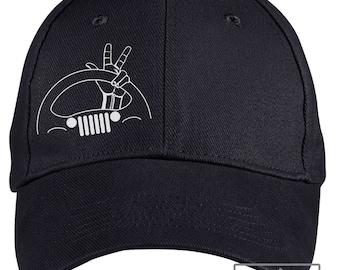 Jeep Wave Hat - Black - Jeep Hat 4126c2637d9