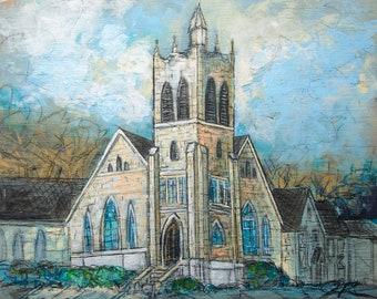Central Baptist Church-Newnan, GA (print)