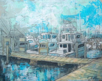 Sunrise on the Docks in Destin (Print)