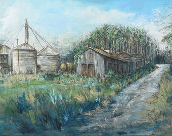 Old Feed Mill (original painting)