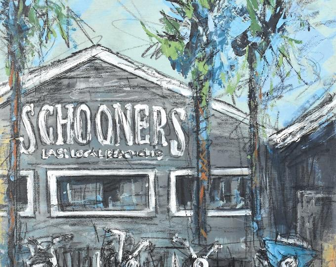 Featured listing image: Schooners Biker Parking (Print)