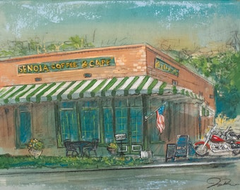 Senoia Coffee and Cafe (Print)