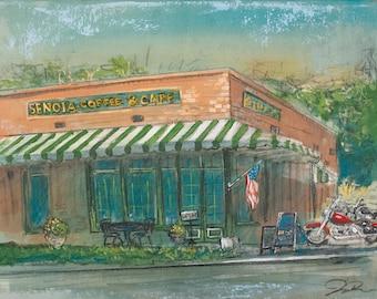 Senoia Coffee and Cafe (Print)