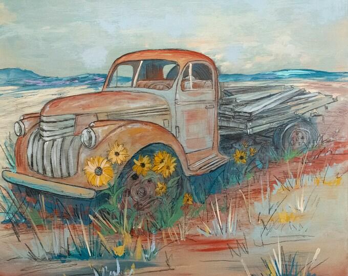 Featured listing image: Classic Flatbed Truck (original)