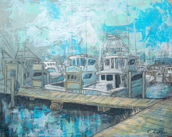 Featured listing image: Sunrise on the Docks in Destin (Print)