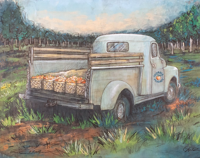 Featured listing image: Georgia Peach Truck (print)