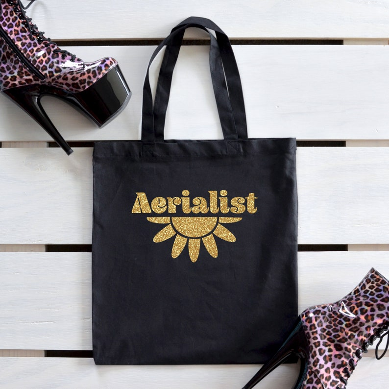 Aerialist Tote Bag Gift / Aerial Hoop or Aerial Silks Reusable image 0