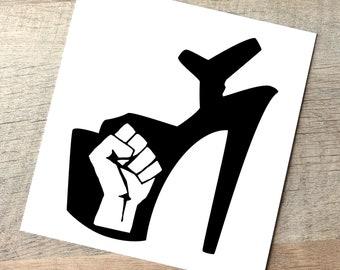 Donation Pole Dance Black Lives Matter Decal / Resistance Fist Car Decal / Black Power Sticker