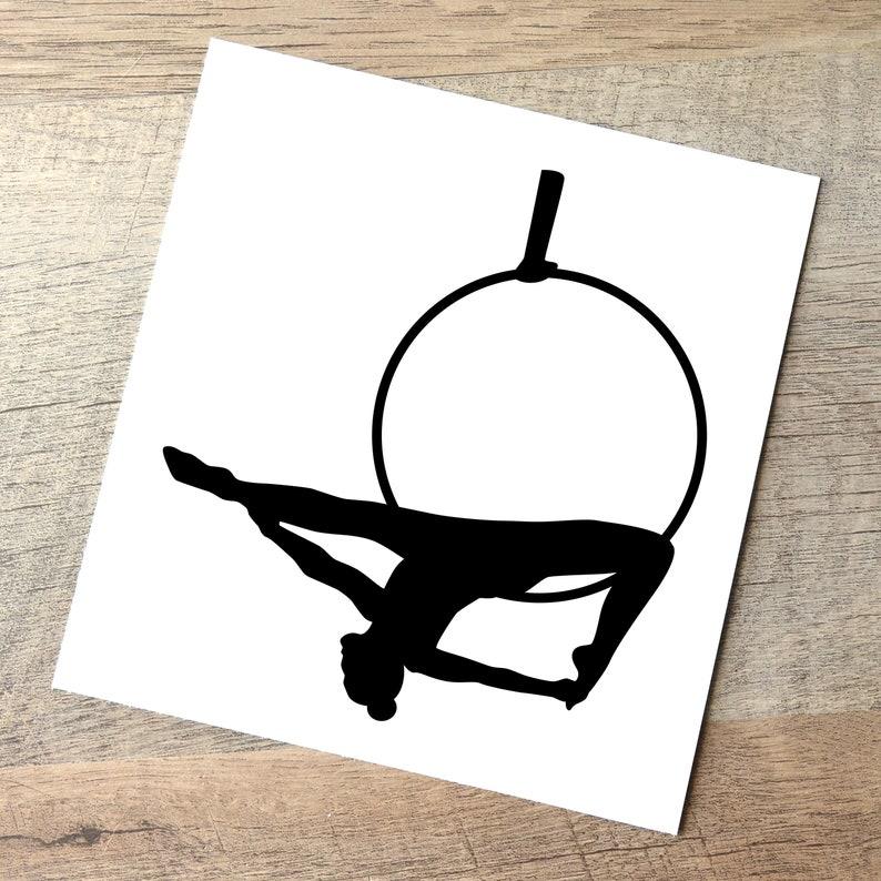 Lyra Decal  Gazelle Split / Aerial Hoop Car Sticker / Black