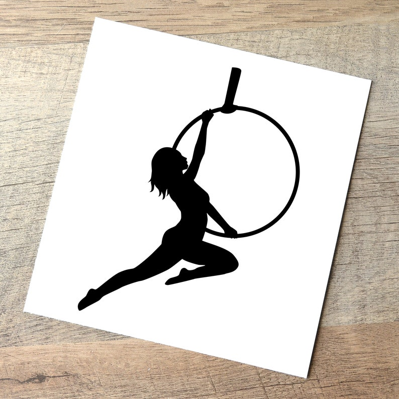 Lyra Decal  Amazon / Aerial Hoop Car Sticker / Aerialist Black