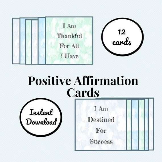 graphic regarding Affirmation Cards Printable referred to as Printable Good Confirmation Playing cards, Guaranteed Messages, Electronic Playing cards, Day by day Affirmations, Consider Confident, Absolutely sure Intellect