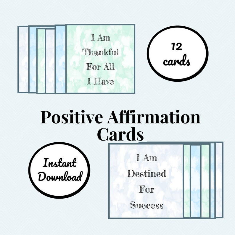 graphic about Printable Positive Affirmations titled Printable Sure Confirmation Playing cards, Guaranteed Messages, Electronic Playing cards, Each day Affirmations, Believe that Constructive, Sure Head