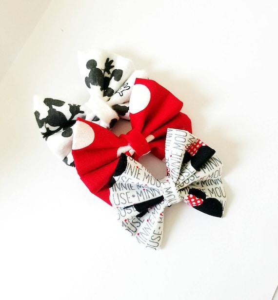 Nylon Headbands or Clips Green Holiday Stripe The Stephanie Bow Fabric Bow