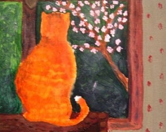Painting the cat